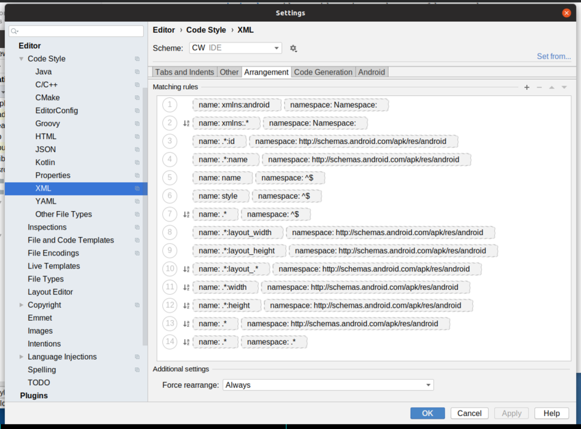Android Studio 3 5 Upgrade XML Reformatting Problems